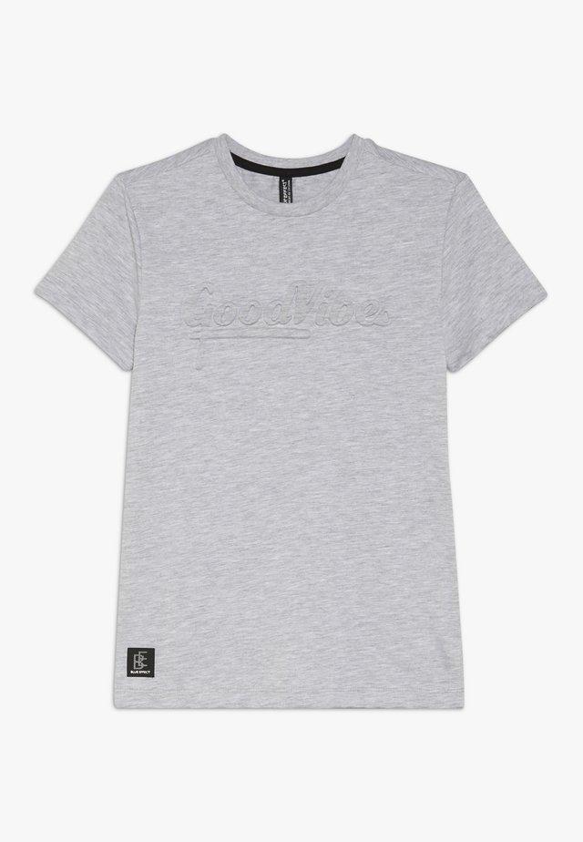 BOYS GOOD VIBES - T-shirt con stampa - hell grau melange