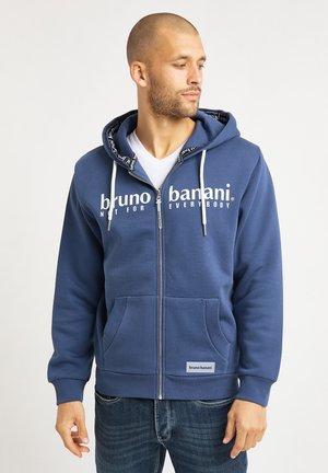 Zip-up hoodie - jeansblau
