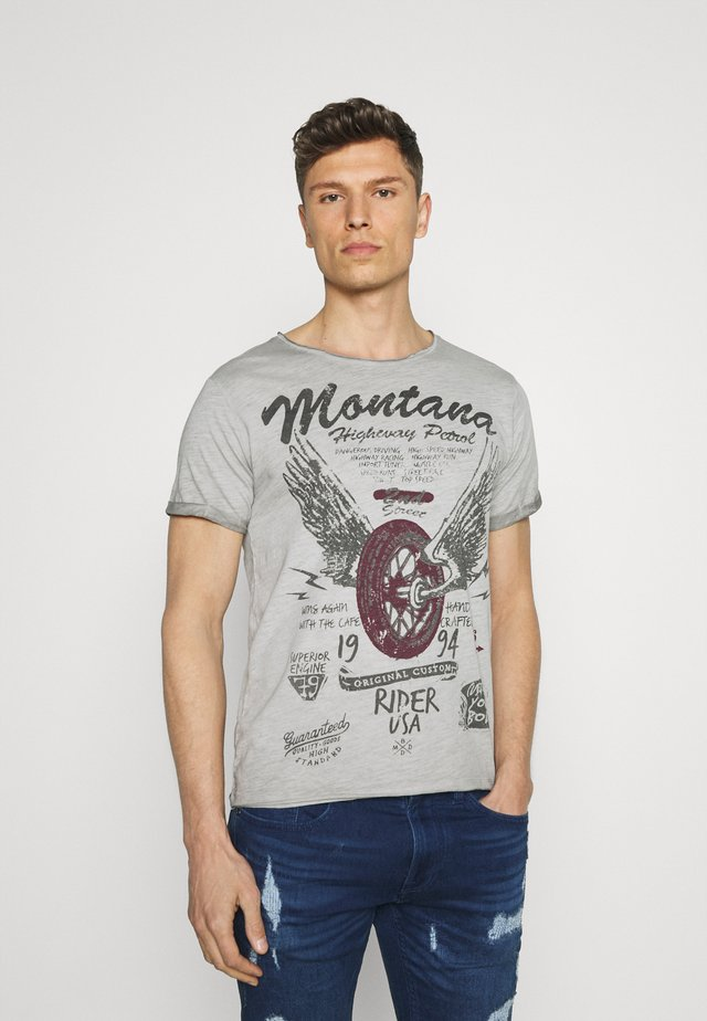 TIRES ROUND - T-shirt con stampa - silver