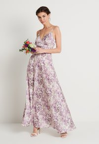 NA-KD - V-NECK FLOWY DRESS - Maxi dress - purple - 1