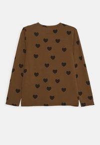 Mini Rodini - HEARTS GRANDPA - Top sdlouhým rukávem - brown - 1