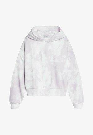 Hoodie - digital cloud aop lavender pink