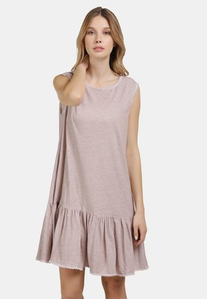 Jersey dress - nude