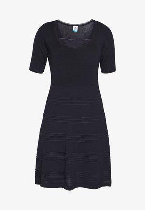 DRESS - Strikket kjole - dark blue
