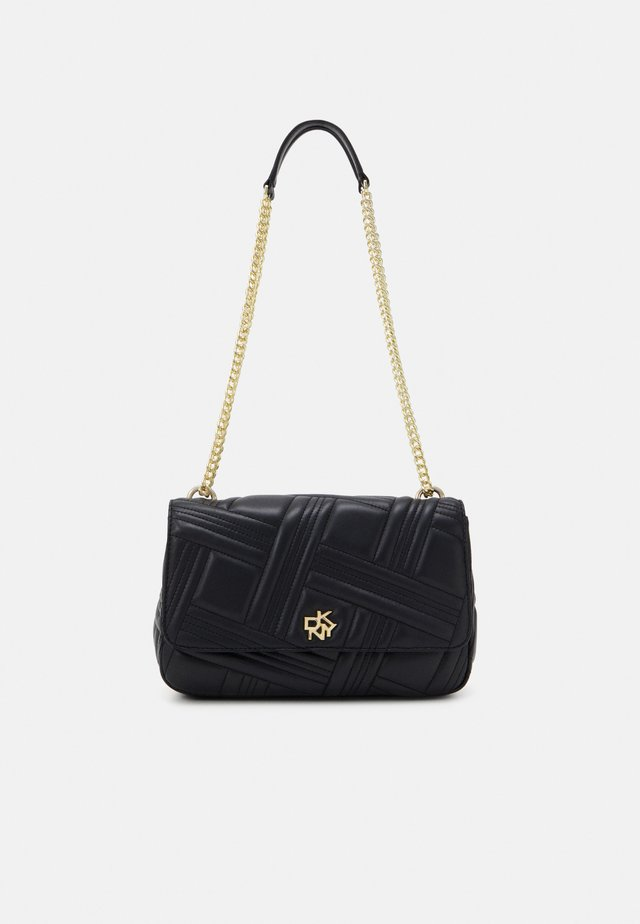 ALICE FLAP SHOULDER QUILTED - Kabelka - black/gold