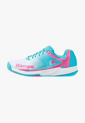 WING 2.0 WOMEN - Handball shoes - white/sky blue