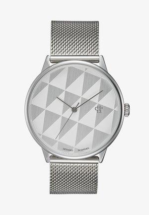 PLATTAN - Watch - silver/white