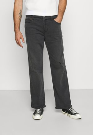 CROP WIDE CHARACTER - Relaxed fit jeans - washed black