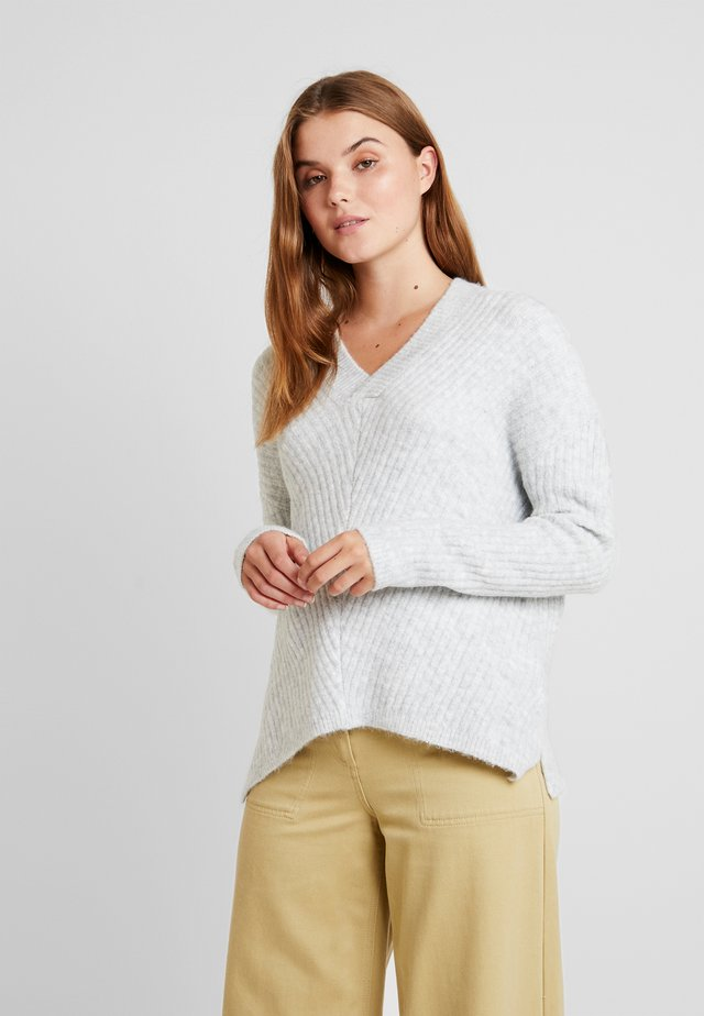 Strickpullover - light grey