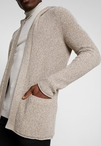 Pier One - Cardigan -  mottled beige - 4