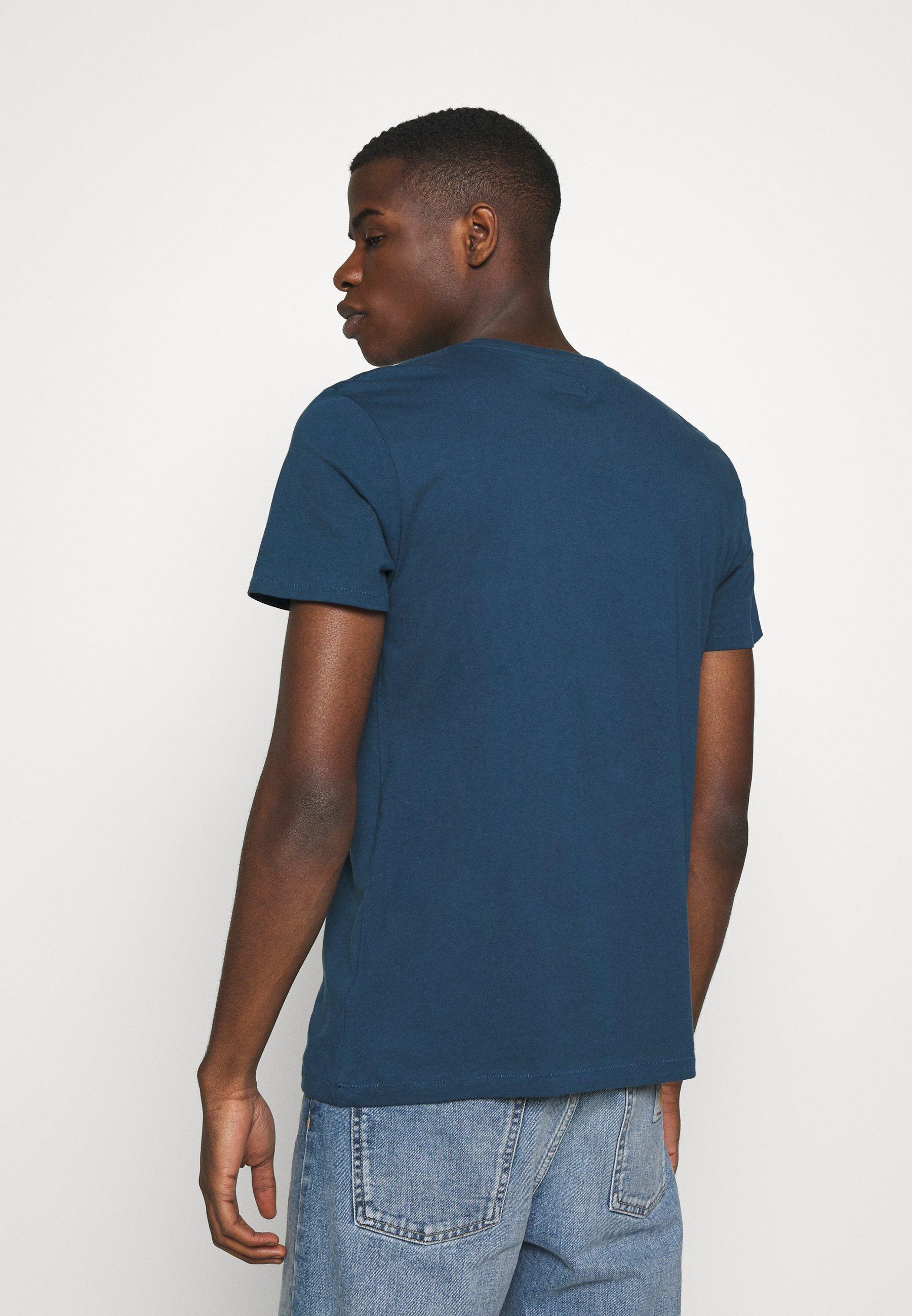 Wrangler SIGN OFF  - Basic T-shirt - dark blue teal opeKb