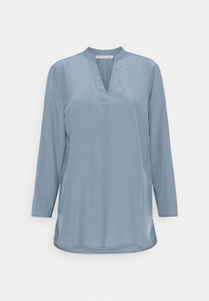 Basic V neck Blouse - Blouse - slate blue