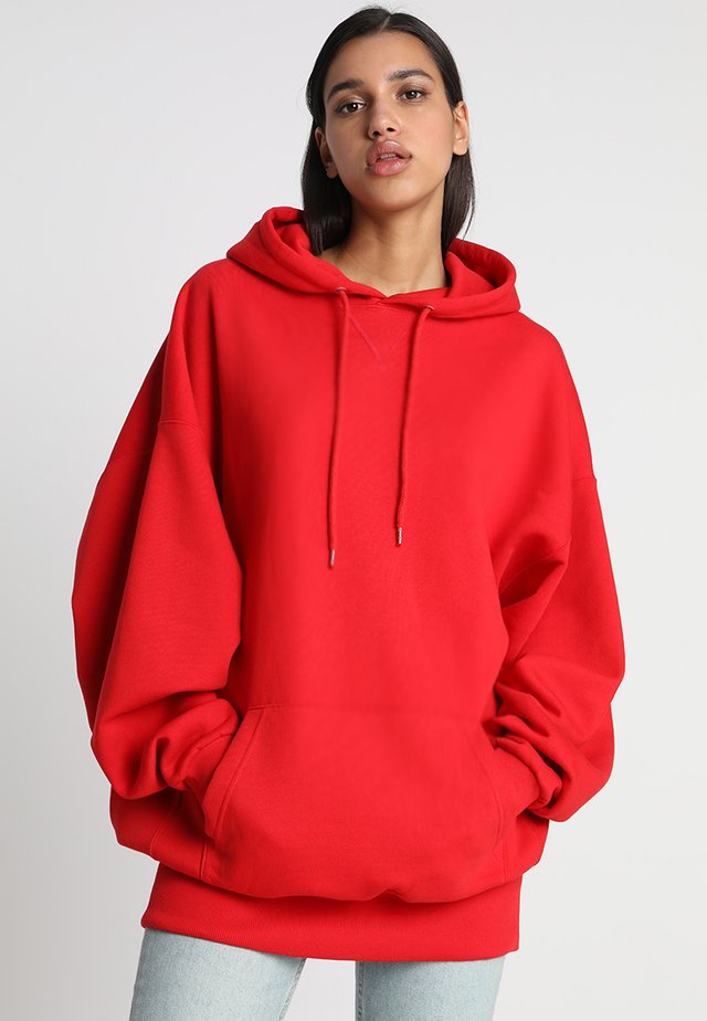 LADIES LONG OVERSIZE HOODY - Hoodie - fire red