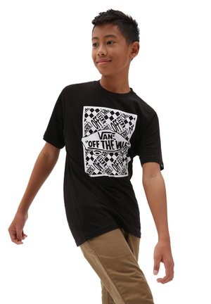 BY OTW REPEAT SS - Print T-shirt - black