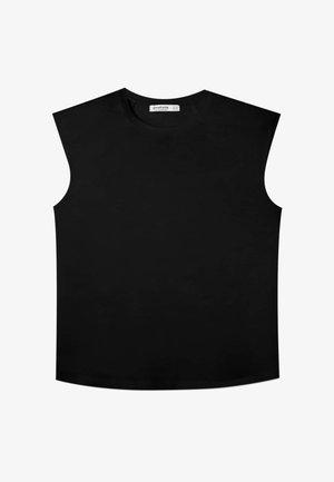 MIT SCHULTERPOLSTERN - Top - black