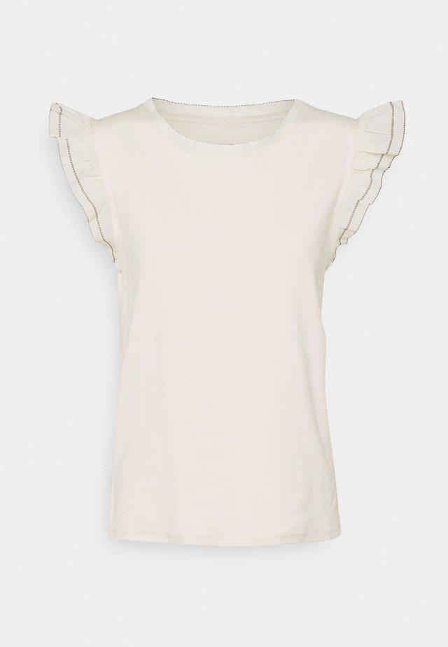 T-shirt print - cashew