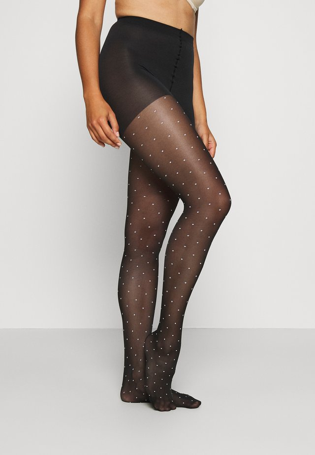 FANCY POP DOTS TIGHT STYLE - Collant - black/white