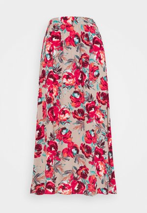 VIKITTIE NEW MIDI SKIRT - A-line skirt - humus/red