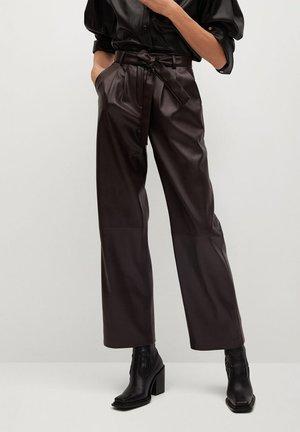 CHOCOLAT - Spodnie materiałowe - marron