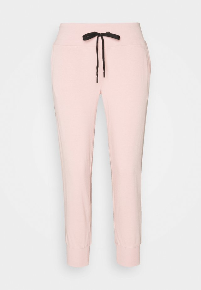 TRACK LOGO JOGGER - Tracksuit bottoms - rosewater