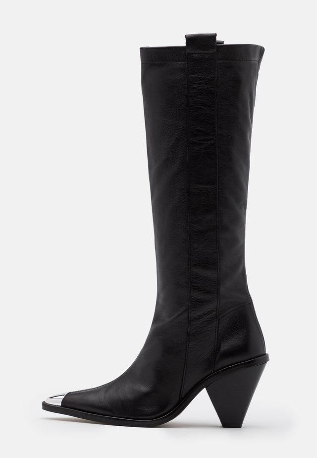 TULIP POINT KNEE - Bottes - black