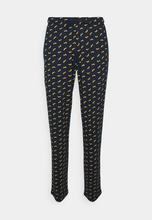 Pyjama bottoms - dark blue/mustard yellow