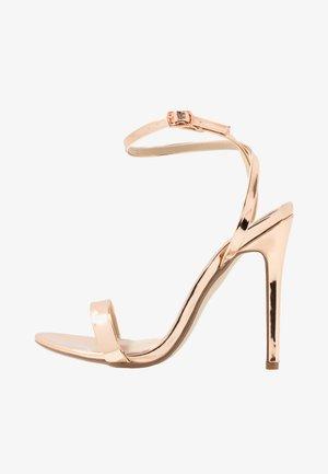 BASIC BARELY THERE - Sandály na vysokém podpatku - rose gold metallic