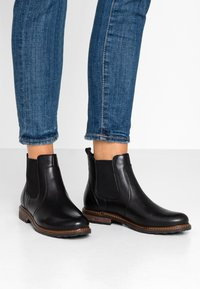 Anna Field Select - LEATHER ANKLE BOOTS - Nilkkurit - black - 0