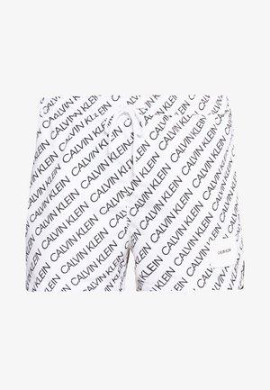 DRAWSTRING PRINT - Swimming shorts - white