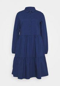 Marc O'Polo DENIM - DRESS BUTTON PLACKET - Shirt dress - scandinavian blue - 6