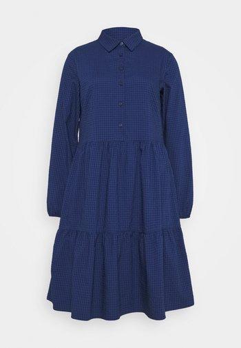 DRESS BUTTON PLACKET - Vestido camisero - scandinavian blue
