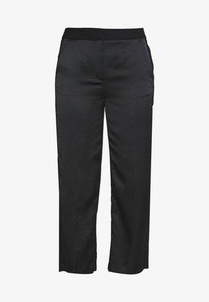 WIDELEG PANTS - Kalhoty - black