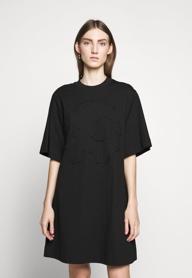 BOTAN DRESS - Žerzejové šaty - darkest black