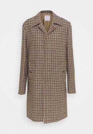 FOX COAT - Classic coat - beige/bleu/noir