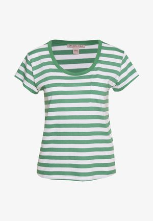 T-shirt print - white/green