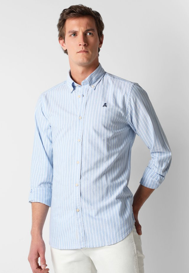 WITH BUTTON-DOWN COLLAR - Chemise - skyblue stripes
