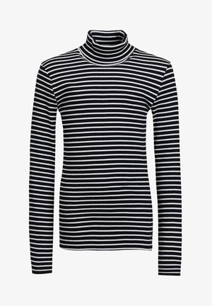 MEISJES ROLNEK T-SHIRT MET GESTREEPTDESSIN - Long sleeved top - black