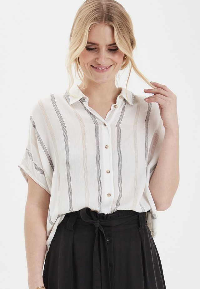 DRJAXO 2 SHIRT - STRIPED - Button-down blouse - snow white