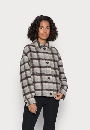 JACKET CROPPED FIT FULLY LINED PATCH - Light jacket - multi/grey