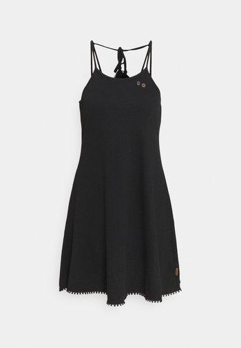 SERAFINA - Jersey dress - black