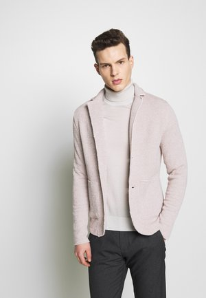 JPRBLACARTER SWEAT BLAZER - Blazer jacket - string/white