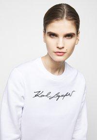 KARL LAGERFELD - SIGNATURE - Sweatshirt - white - 3