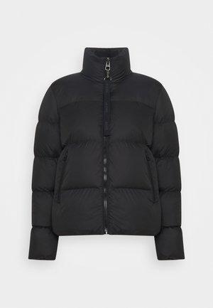 PUFFER JACKET SHORT STAND UP COLLAR ZIPP - Down jacket - black