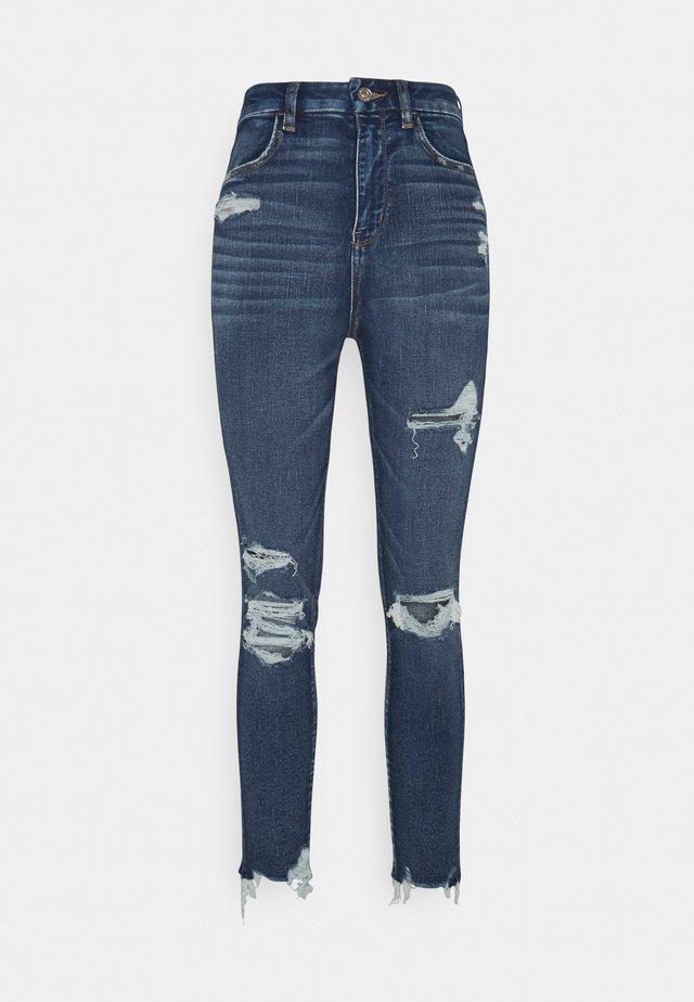 CURVY SUPER CROP - Jeans Skinny Fit - fleet navy
