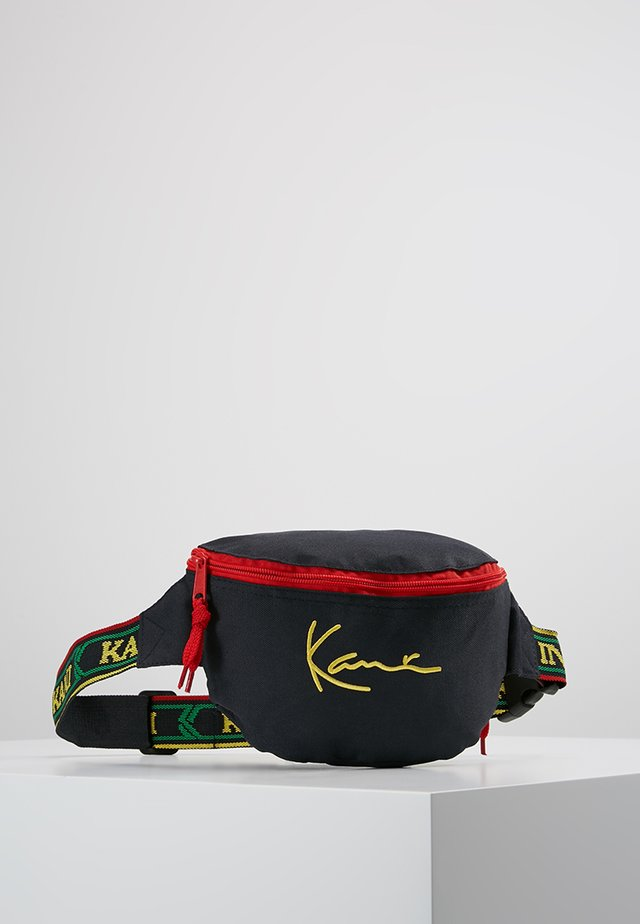 SIGNATURE WAIST BAG - Riñonera - navy/yellow/red