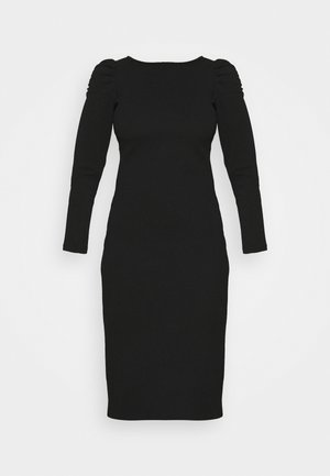 RUCHED SLEEVE BODYCON DRESS - Shift dress - black
