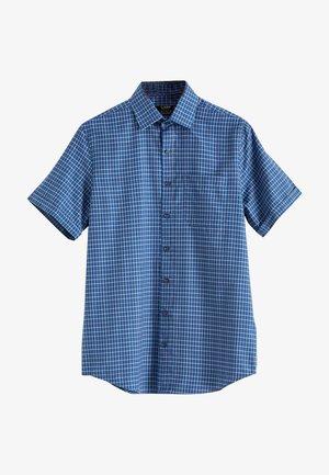Shirt - navy checked