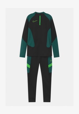 ACADEMY SET UNISEX - Tracksuit - black/green strike