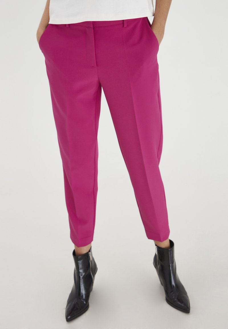 ICHI - IXLEXI - Trousers - fuchsia red
