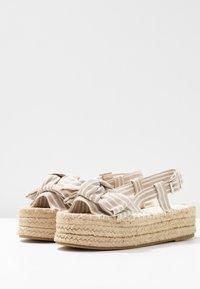 South Beach - STRIPE KNOT FRONT  - Sandály na platformě - natural - 4